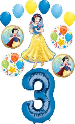 Snow White Party Supplies Princess 3rd Birthday Balloon Bouquet Decorations