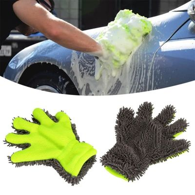 Detailer's Preference Eurow Microfiber Interior & Exterior Cleaning Glove Fine-haired chenille five-finger gloves