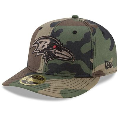 Baltimore Ravens New Era Woodland Camo Low Profile 59FIFTY Fitted Hat