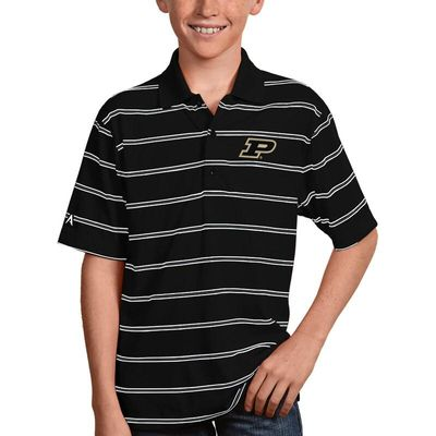 Purdue Boilermakers Antigua Youth Deluxe Polo - Black