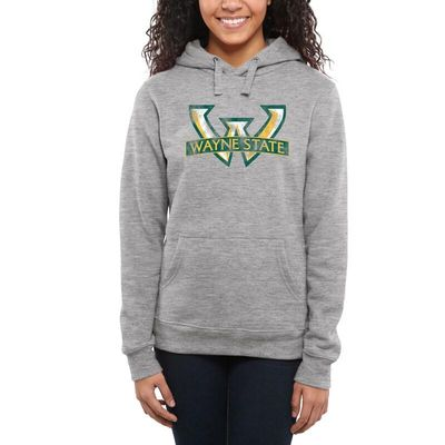 Wayne State Warriors Women's Classic Primary Pullover Hoodie - Ash -