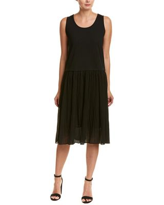 Elssie Rosse Pleated A-Line Dress