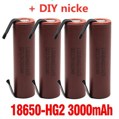 2-6pcs Original large capacity 18650 3000mah rechargeable battery for LG HG2 3000mah power discharge large current + DIY nicke