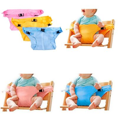 Baby portable high chair seat safety belt foldable sacking dinning seat belts