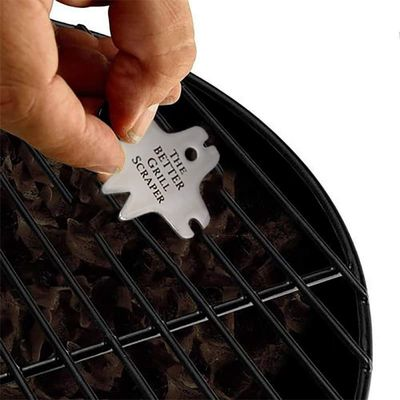 Stainless steel silverpractical Grill scraper Portable Barbecue Cleaning Tool easy to clean no fading Non-toxic Cleaning tool
