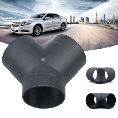 75mm Air Vent Ducting Y Piece Elbow Pipe Outlet Exhaust Connector For Diesel Parking Heater High Temperature Resistance