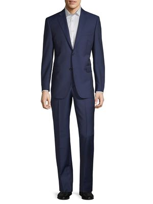 Saks Fifth Avenue Made in Italy Two-Piece Slim-Fit Tailored Wool & Silk Suit