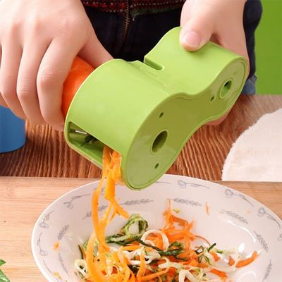 New Spiral Vegetable Slicers Double Grater Premium Noodle Cutter Grater With Knife Cutter creative home living supplies