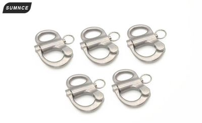 Stainless Steel Fixed Snap Shackle with Round Ring For Boat