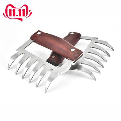 1/2PCS Bear Claw Barbecue Fork Clamp Stainless Steel Useful Meat Processor Barbecue Tool Multi-function Meat Remover Fork