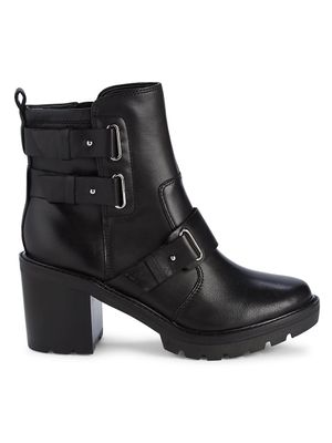 Marc Fisher LTD Dream Buckle-Strap Leather Booties