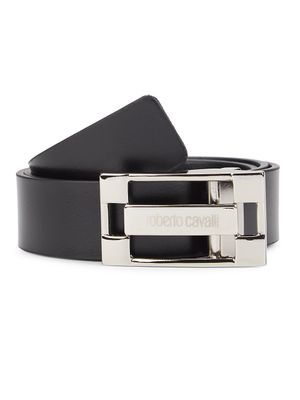 Roberto Cavalli Logo Leather Belt