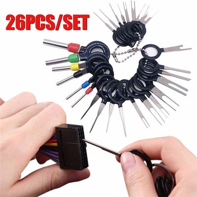 26Pcs Car Terminal Removal Electrical Wiring for Cars Crimping Tool Connector Pin Extractor Automobiles Terminal Removal Tool