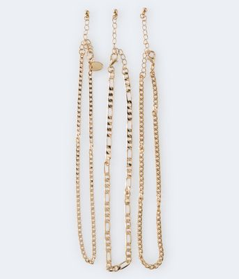 Aeropostale Chain Necklace 3-Pack