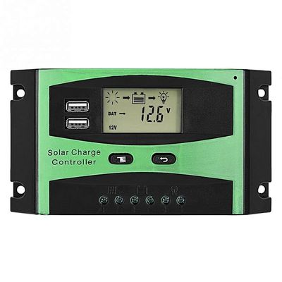 30A/20A LCD Display Solar PV Charge Regulators PWM Solar Battery Charger Controller Dual USB Solar Charge Controller(30A)