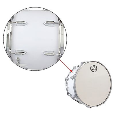14in Marching Drum Stainless Steel & Maple Wood Body PVC