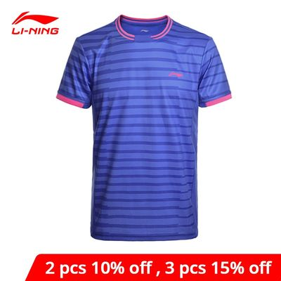 Li-Ning Men's Badminton Shirts AT DRY Breathable Regular Fit Sports T-Shirts LiNing li ning Tee AAYM143 MTS2646