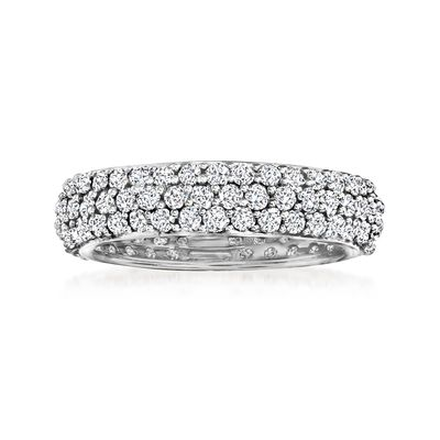 Ross-Simons Pave Diamond Eternity Band in 14kt White Gold