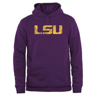 LSU Tigers Big & Tall Classic Primary Pullover Hoodie - Purple