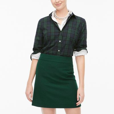 J.Crew Factory Wool-blend A-line Skirt