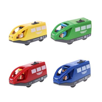 Electronic Train Vehicle Toy Magnetic Wooden Slot Diecast Gift For Children Kids