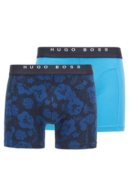 HUGO BOSS - Two Pack Of Boxer Briefs With Logo Waistbands
