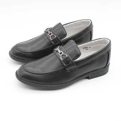 New Boys Slip on Shoes Kids Formal Smart Black Buckle Wedding Page Boy School Formal Party Shoes EUR Size 26-38