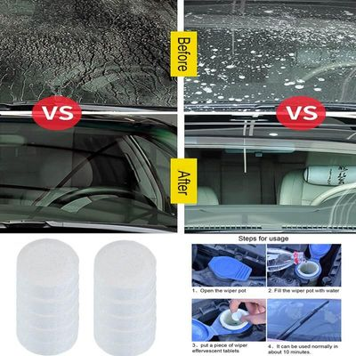 1-10pcs Auto Car Windshield Glass Wash Glass Window Cleaner Car  Wiper Fine Wiper Cleaning Concentrated Effervescent Tablet