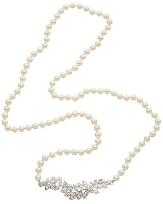 Kenneth Jay Lane Rhodium Plated 36in Necklace