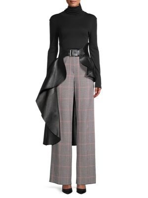 Alexander McQueen Asymmetrical Draped Leather Belt