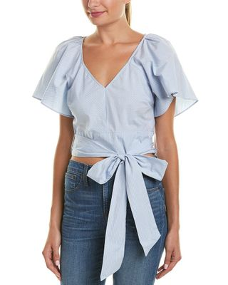 Parker Cropped Striped Top