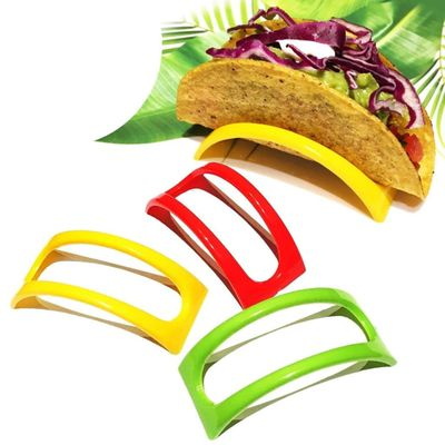12PCS Colorful Plastic Taco Shell Holder Taco Stand Plate Protector Food Holder Kitchen Products Pancake Rack Stand Holds