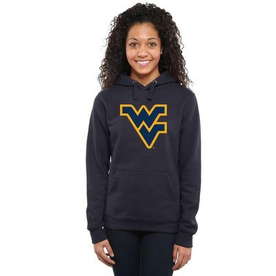 West Virginia Mountaineers Womens Classic Primary Pullover Hoodie - Navy Blue