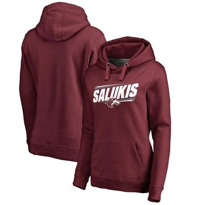 Southern Illinois Salukis Women's Double Bar Pullover Hoodie - Maroon