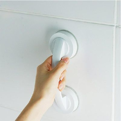 Free Installation Suction Cup Handrail for Glass Door Bathroom Office Elder .Tear up the protective film on the 3M plate