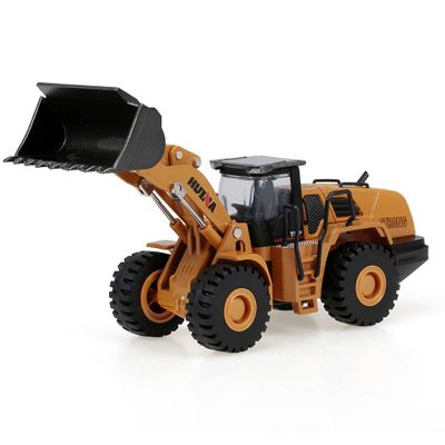 1714 1:50 HUINA Die-Cast Alloy Bulldozer Engineering Truck Static Model Construction Vehicle Educational Toys for Children Kids