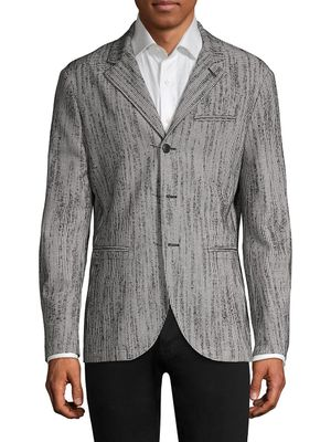 John Varvatos Easy-Fit Wool-Blend Blazer Jacket
