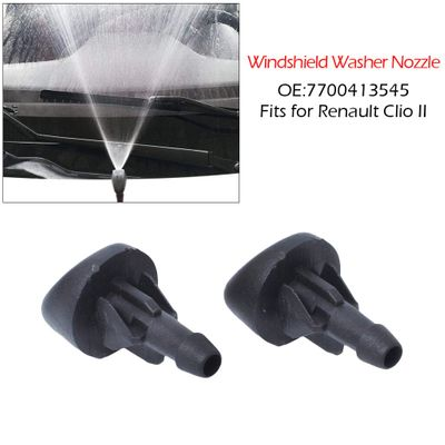 2 Windshield Washer Nozzle Spray For Loading - Renault Front Windshield Nozzle Spout 7700413545