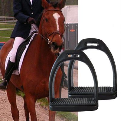 2PCS Children Adults Durable Horse Riding Stirrups 2 Sizes For Horse Rider Lightweight Wide Track Anti Slip Equestrian