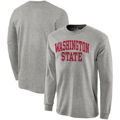 Washington State Cougars Fanatics Branded Basic Arch Long Sleeve T-Shirt - Gray