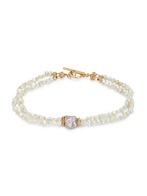 Sophie Jane Estate 14K Yellow Gold & 2-3MM Freshwater Pearl Double-Layer Bracelet