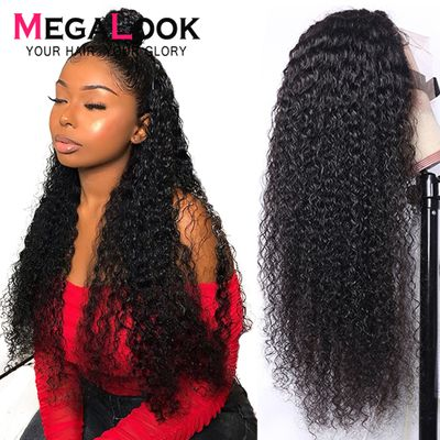 Kinky Curly Wig 4X4 13x4 13x6 lace front Wig Brown Lace Wig Brazilian Wigs Human Hair Wig Kinky Curly Lace Front Human Hair Wig