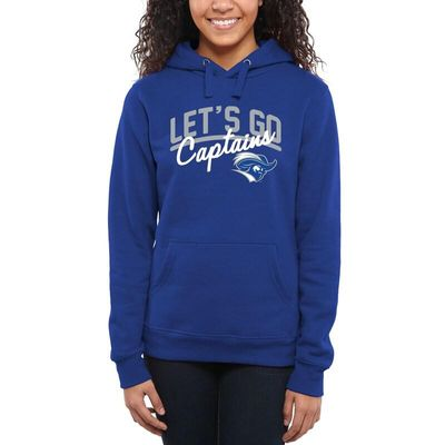 Christopher Newport University Captains Women's Let's Go Pullover Hoodie - Royal