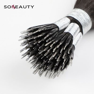 Sobeauty Remy Hair Extensions Nano Ring Hair Extensions Dark Brown Color  50 Strands micro bead hair extensions Brazilian Hair