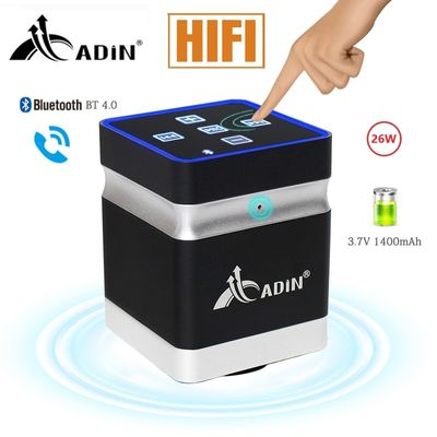 New Bluetooth Vibration Speaker 26W Resonance Speaker Wireless Outdoor Stereo Bass Touch Adin Bass Computer Speakers For Phone