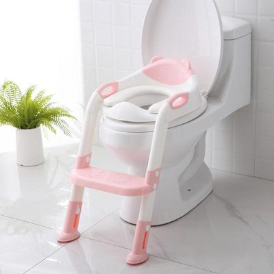 Folding Baby Potty Child Toilet Seat Training Seat Portable Urinal Potty Training Seat with Adjustable Ladder