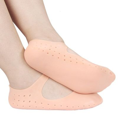 1 Pair Silicone Gel Heel Socks Foot Care Tool Feet Protector Pain Relief Crack Prevention Moisturize Dead Skin Removal Sock Wi