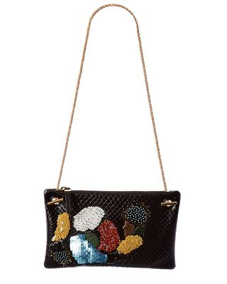 The Row Party Time 7 Python Clutch With Chain