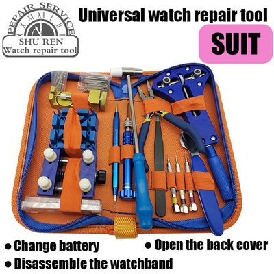 Free shipping,Watch tools, watch strap adjuster, three-jaw opener, pry knife, battery replacement, small hammer punch needle