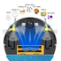 NEATSVOR X500 Robot Vacuum Cleaner 3000PA Poweful Suction 3in1 pet hair home dry wet mopping cleaning robot Auto Charge vacuum